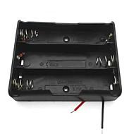 3-slot caixa de caso suporte da bateria 3,7 V 18650 w / leva - preto