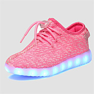 LED Light Up Shoes, Girl's Flats Summer Comfort Tulle Casual Flat Heel Green / Pink / Gray / Royal Blue