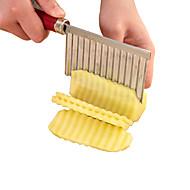 Χαμηλού Κόστους -1 τμχ Cutter & Slicer For για λαχανικών / για Φρούτα Ανοξείδωτο ατσάλι Υψηλή ποιότητα / Δημιουργική Κουζίνα Gadget / Πρωτότυπες