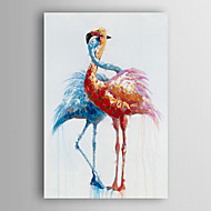 cheap Oil Paintings-Hand-Painted Animals Vertical, Modern Canvas Oil Painting Home Decoration One Panel