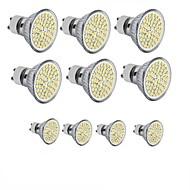 billige Spotlys med LED-10pcs 3.5W 300-350lm GU10 GU5.3(MR16) E26 / E27 LED-spotpærer MR16 60SMD LED perler SMD 2835 Dekorativ Varm hvit Kjølig hvit 110-130V 12V
