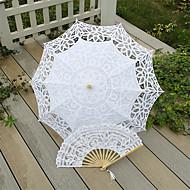"billiga Brudparaplyer-Posthandtag Spets Bröllop Strand Paraply Paraplyer 30.7""(ca. 78cm)"