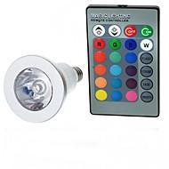 billige Globepærer med LED-jiawen ledd pære rgb e14 3w led spotlight led pærer aluminium 16 farger med fjernkontroll innendørs spotlight ac85-265v