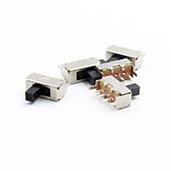 12 milímetros de 3 pinos interruptor basculante - prata (5pcs)