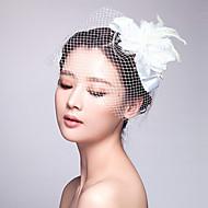 cheap Wedding Headpieces-Tulle Fabric Fascinators 1 Wedding Special Occasion Headpiece