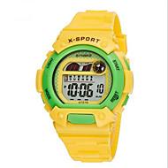 billige Sportsur-SYNOKE Sportsur / Armbåndsur / Digital Watch Alarm / Kalender / Kronograf Gummi Bånd Vedhæng Blåt / Grøn / Pink / Vandafvisende / Selvlysende / LCD