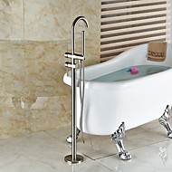 cheap Bathtub Faucets-Shower Faucet Bathtub Faucet Bathroom Sink Faucet - Contemporary Art Deco / Retro Modern Nickel Brushed Tub And Shower Ceramic Valve