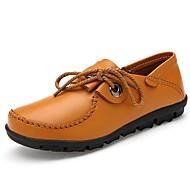 billige Damesko i skind-Brun-Flad hæl-Kvinders Sko-Komfort-Nappa Leather-Kontor / Hverdag-Oxfords