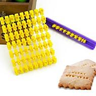 vruće prodaja abeceda broj kolačići biskvit pismo žig za utiskivanje fondant torta uređenje kalup kočenja rezač slučajnim boja