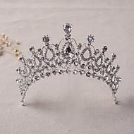 abordables Tiaras boda/novia-Brillante Legierung Tiaras Diademas 1 Boda Celada