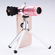 Χαμηλού Κόστους Camera Video Accessories Black Friday Sale-καθολική φακό 12 × τηλεσκόπιο για κινητά τηλέφωνα iPhone / samsung ασημί / χρυσό / αυξήθηκε / μαύρο