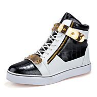 Running Shoes Men's High-top Shoes Casual/Travel/Outdoor Fashion Microfiber Board Shoes EU39-EU44