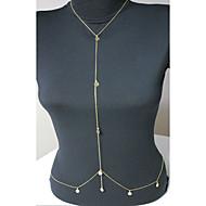 Dámské Tělové ozdoby Kovový pás Tělo Chain / Belly Chain Třásně Evropský bižuterie Pozlacené Šperky Pro Párty Denní Ležérní