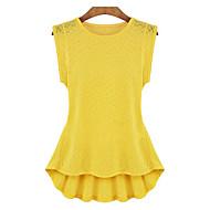Bluza Žene Jednobojni Prekrižene naramenice Umjetna svila Poliester