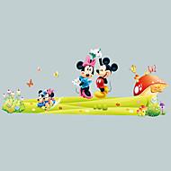 preiswerte -Cartoon-Maus-Cartoon Wandaufkleber Umwelt Wohnzimmer Schlafzimmer Wandtattoos