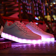 ieftine Adidași Bărbați-Bărbați Pantofi PU Vară Confortabili Pantofi Flați Toc Drept Alb