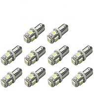 10 stuks BA9S Automatisch Lampen 1 W SMD 5050 120 lm 5 LED Richtingaanwijzerlicht For Universeel