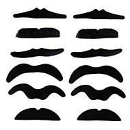 falso bigode em todo o mundo 12pcs / set traje do partido quente do dia das bruxas bigode engraçado falsa barba suiça