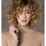 Women's Fashion Gold Blonde mix Short Curly Synthetic wigs for women