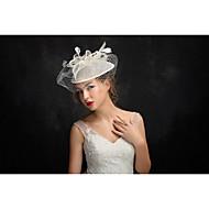 tyl lněná pera fascinators hlavice klasický ženský styl