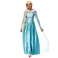 Princeza Fairytale Elsa Cosplay Nošnje Filmski Cosplay Plava Hula-hopke/Onesie Plašt Halloween New Year Terilen