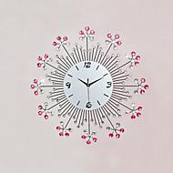 מודרני / עכשווי פרחוניים/בוטניים / מעורר השראה / סרט מצויר שעון קיר,עגול / מצחיק זכוכית / מתכת / אבן 57cm x 57cm(22in x 22in ) בבית