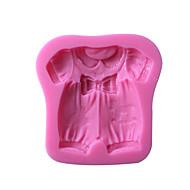 billige Bakeredskap-baby klær silikon kake mold høy kvalitet baking verktøy 1pc