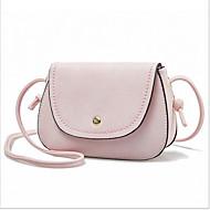 お買い得  ショルダーバッグ-女性用 バッグ PU クロスボディーバッグ ボタン パープル / ブルー / ピンク