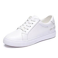 Women's Shoes Simple Basic Patent Leather Comfort / Round Toe Fashion Sneakers Outdoor / Casual Platform Lace-up