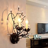 billige Krystall Vegglys-ac 220-240 10 e14 tradisjonell / klassisk maleri funksjon for krystall, lampetter uplight vegg vegglampe