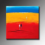 billiga Abstrakta målningar-Hang målad oljemålning HANDMÅLAD - Abstrakta landskap Moderna Med Ram