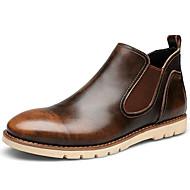 Bărbați Cizme Primăvară Vară Toamnă Iarnă Cizme Cowboy / Western Nappa Leather Outdoor Casual Toc Gros Carouri Negru Maro Roșu