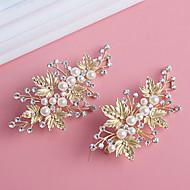 billige Bryllup Hovedbeklædning-Perle Krystal Legering Hårspænde 1 Bryllup Speciel Lejlighed Medaljon