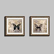 Blomstret/Botanisk / Dyr Innrammet Lerret / Innrammet Sett Wall Art,PVC Gylden Passpertou Inkludert med Frame Wall Art