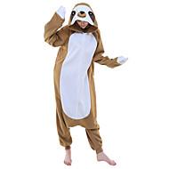 Kigurumi Pijamalar Anime Karton Strenç Dansçı/Tulum Festival / Tatil Hayvan Sleepwear Halloween Kahverengi Hayvan Desenli Kırk YamaPolar