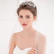 billiga Brudhuvudbonader-Legering Tiaras / pannband / Huvudbonad med Blomma 1st Bröllop / Speciellt Tillfälle / Casual Hårbonad