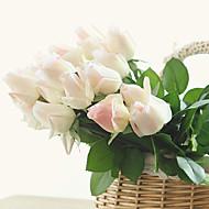 10 10 Branch PU Roser Bordblomst Kunstige blomster 55CM
