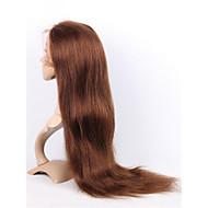 Ženy Paruky z přírodních vlasů Přírodní vlasy Se síťovanou přední částí Celokrajkové 130% Hustota Rovné Paruka Stredně hnědá Krátký