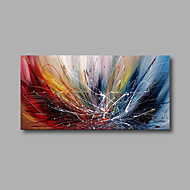 "Stretched (Ready to hang) Hand-Painted Oil Painting 40""x20"" Canvas Wall Art Modern Abstract Blue Red White"