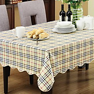 Rural Floral Plastic Grid Rectangular Cloth Waterproof And Oil Cloth