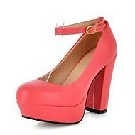 Mujer Zapatos Cuero Nobuck Otoño Pump Básico Tacones Tacón Cuña Dedo Puntiagudo Pedrería / Hebilla Amarillo / Rojo / Almendra 4ieQDH