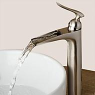 Koupelna Umyvadlová baterie - Vodopád Broušený nikl Baterie na střed Single Handle jeden otvorBath Taps