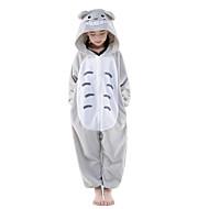 Kigurumi plišana pidžama Totoro Mačka Onesie pidžama Kostim Flis Sive boje Cosplay Za Dječji Zivotinja Odjeća Za Apavanje Crtani film Noć