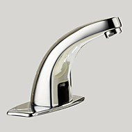 cheap Bathroom Sink Faucets-Contemporary Centerset Touch/Touchless Brass Valve One Hole Hands free One Hole Chrome, Bathroom Sink Faucet