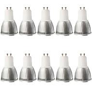 halpa -10pcs 5W 400-450lm GU10 LED-kohdevalaisimet MR16 1 LED-helmet COB Himmennettävissä Koristeltu Lämmin valkoinen Kylmä valkoinen 100-240V