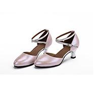 billige Moderne sko-Dame Moderne sko Lær Høye hæler Spenne / Uthult Kubansk hæl Kan spesialtilpasses Dansesko Fuksia / Blå / Rosa / Ytelse