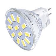 billige Spotlys med LED-YouOKLight 250 lm GU4(MR11) LED-spotpærer MR11 12 LED perler SMD 5733 Dekorativ Varm hvit / Kjølig hvit 9-30 V / 1 stk. / RoHs / FCC