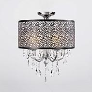 billige Taklamper-QINGMING® 5-Light Takplafond Opplys Krom Metall Krystall 110-120V / 220-240V Pære ikke Inkludert / E12 / E14