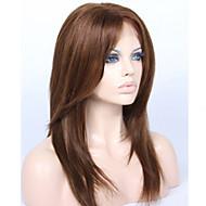 Cabelo Virgem Frente de Malha Peruca Cabelo Brasileiro Liso Com Franjas Com Baby Hair Sem cola Peruca Afro Americanas Riscas Naturais