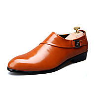 billige Skosalg-Herre sko PU Vår Høst Oxfords Til Avslappet Svart Brun Burgunder